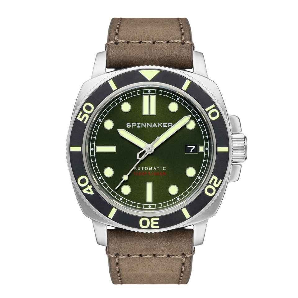 SPINNAKER - OROLOGIO HULL DIVER ALLIGATOR GREEN