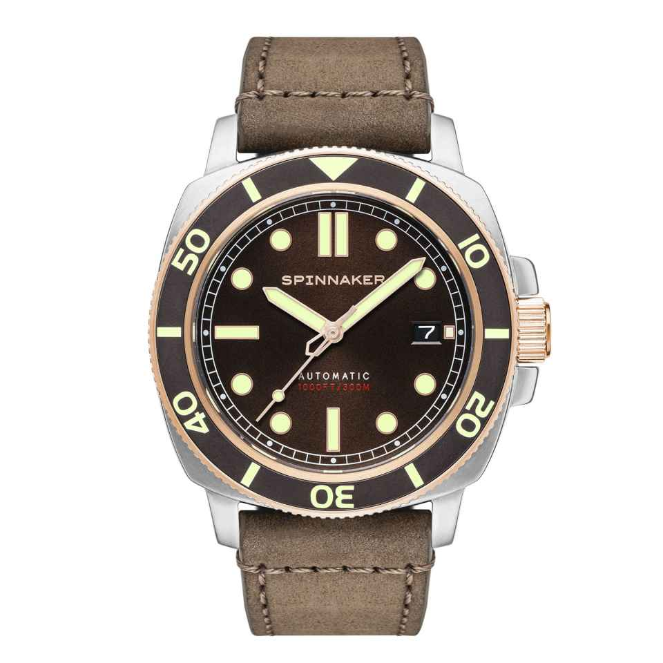 SPINNAKER - OROLOGIO HULL DIVER COGNAC BROWN